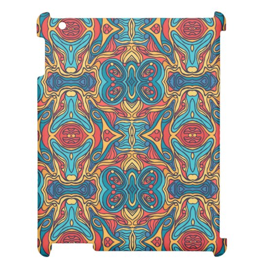 Abstract colourful hand drawn curly pattern design iPad cases