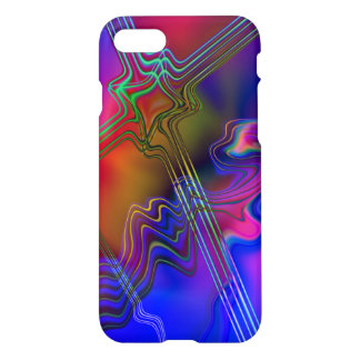Abstract Colourful line pattern iPhone 7 Case