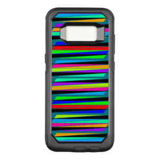 Abstract colourful lines OtterBox commuter samsung galaxy s8 case