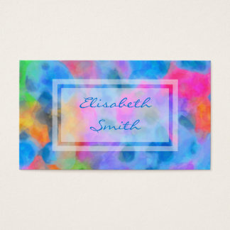 Abstract Colourful Painting Business Card