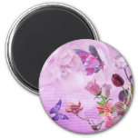 Abstract Colourful Pink Purple Cute Butterfly Fridge Magnets
