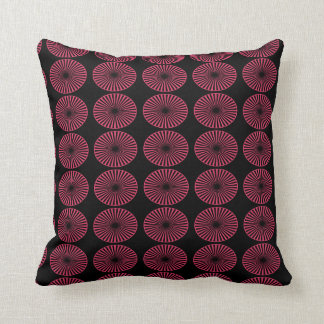 Abstract Colourful Wheels Throw Pillow
