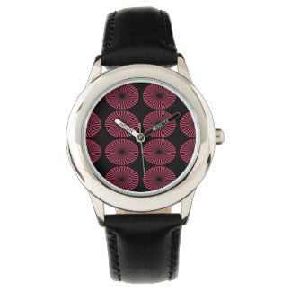 Abstract Colourful Wheels Wristwatch