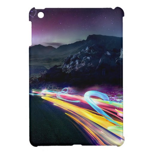 Abstract Colours Northern Lights Road iPad Mini Cases