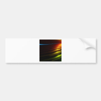 Abstract Colours Ray Of Lights Bumper Sticker
