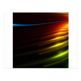 Abstract Colours Ray Of Lights Postcard