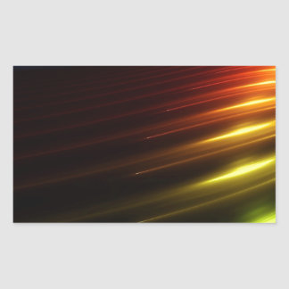 Abstract Colours Ray Of Lights Rectangular Sticker