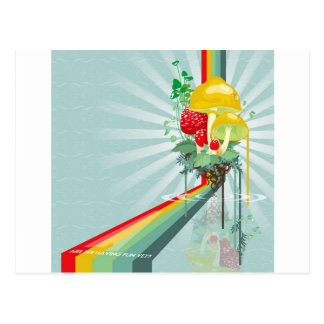 Abstract Colours The Growing Rainbow Postcard