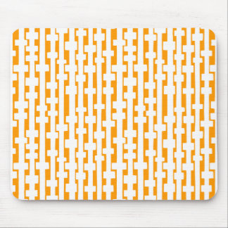 Abstract Columns - White on Lt Orange Mouse Pad