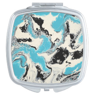 """Abstract Compact Mirror - """"Turquoise Tech"""""""