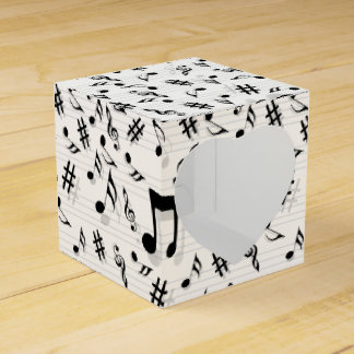 Abstract Composer Musical Notes Pattern Party Favour Box