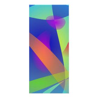 Abstract Composition Light Blue Custom Rack Card