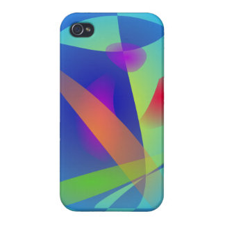 Abstract Composition Light Blue iPhone 4/4S Cases