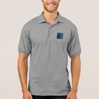 Abstract Composition Light Blue Polo