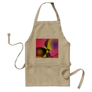 Abstract Composition Red Wind Apron