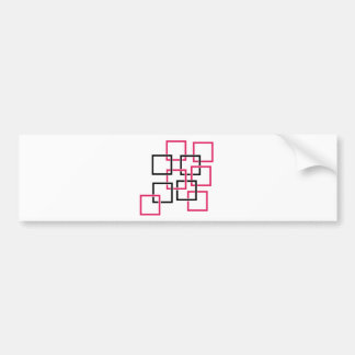 Abstract composition with squares bumper sticker