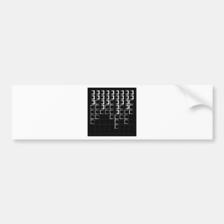Abstract composition with squares bumper stickers