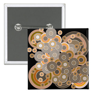 Abstract Concentric Circles Pattern Buttons
