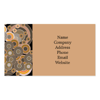Abstract Concentric Circles Pattern Business Cards