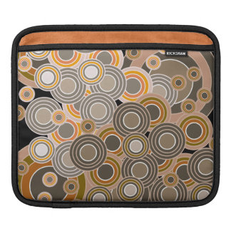 Abstract Concentric Circles Pattern Sleeves For iPads