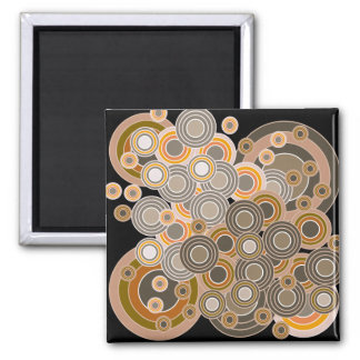 Abstract Concentric Circles Pattern Magnets