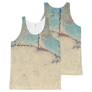 Abstract concrete wall All-Over print singlet