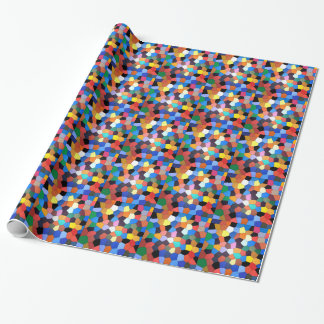 Abstract Confetti Stained Glass Wrapping Paper
