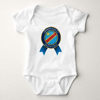 Abstract Congo Flag, Democratic Republic of Congo Baby Bodysuit