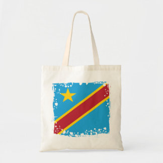 Abstract Congo Flag, Democratic Republic of Congo Tote Bag