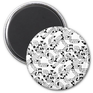 Abstract construction 6 cm round magnet