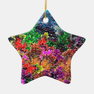 abstract contemporary colors No 27 Ceramic Star Decoration