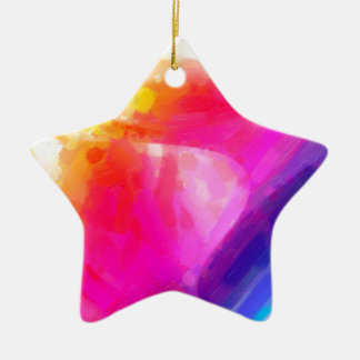 abstract contemporary colors No 29 Ceramic Star Decoration