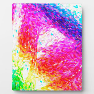 abstract contemporary colors No 30 Plaque