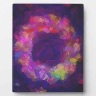 abstract contemporary colors No 40 Plaque