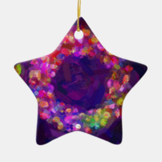 abstract contemporary colors No 41 Ceramic Star Decoration
