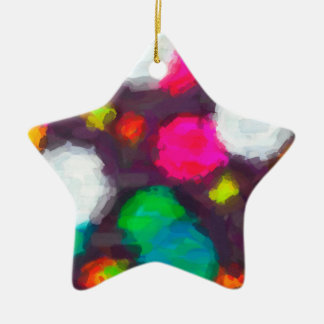 abstract contemporary colors No 48 Ceramic Star Decoration