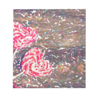 abstract contemporary colors No 51 Love Notepad