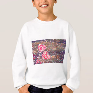 abstract contemporary colors No 51 Love Sweatshirt