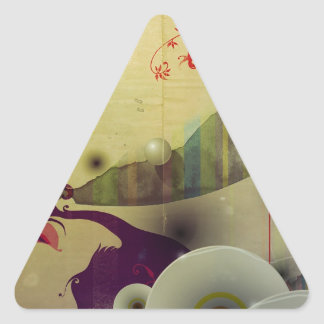 Abstract Cool A Land Of Time Triangle Sticker