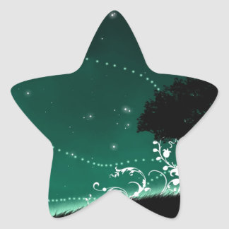 Abstract Cool A Sign Of Stars Star Sticker