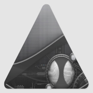 Abstract Cool Advanced Technology Triangle Sticker