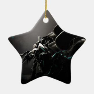 Abstract Cool Black Charms Ceramic Ornament