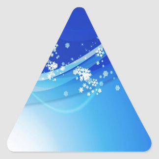 Abstract Cool Blue Bobbles Triangle Stickers