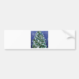 Abstract Cool Christmas Tree Times Bumper Sticker