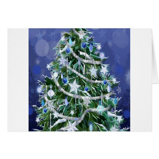 Abstract Cool Christmas Tree Times Greeting Cards