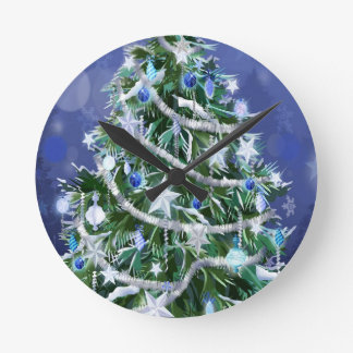 Abstract Cool Christmas Tree Times Clock