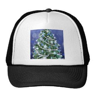 Abstract Cool Christmas Tree Times Mesh Hats