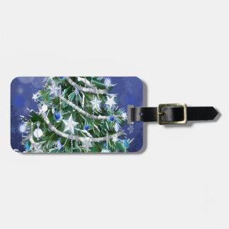 Abstract Cool Christmas Tree Times Luggage Tag