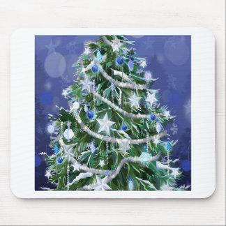 Abstract Cool Christmas Tree Times Mousepads