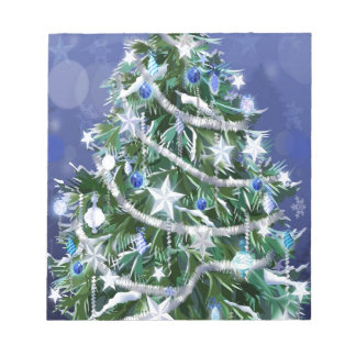 Abstract Cool Christmas Tree Times Memo Pad